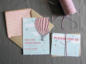 invitation montgolfière