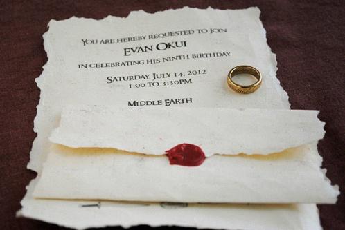 faire part mariage seigneur des anneaux