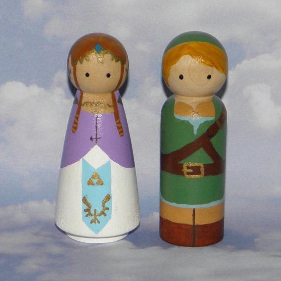 figurines link et zelda