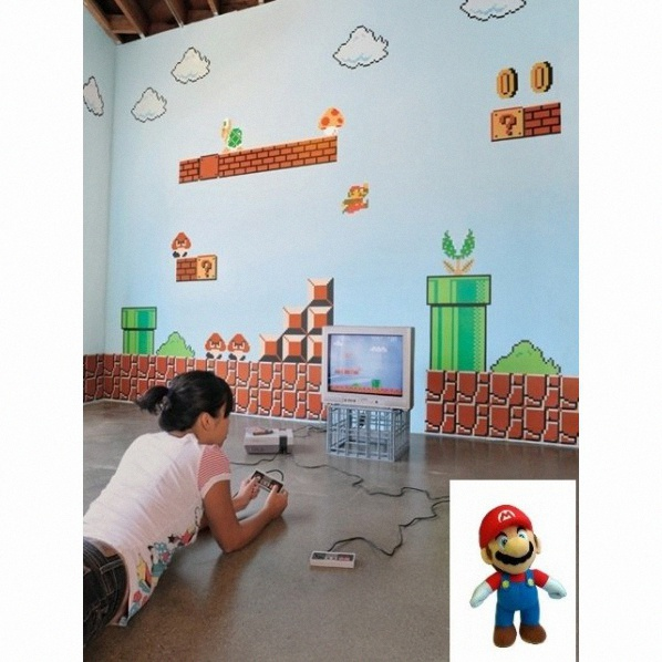best stickers muraux mario bros ideas. Black Bedroom Furniture Sets. Home Design Ideas