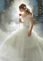 robe de mariée belle disney