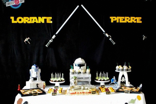 la sweet table star wars pour le mariage de loriane et pierre. Black Bedroom Furniture Sets. Home Design Ideas