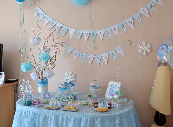 Exceptionnel Un anniversaire Reine des Neiges pour les 6 ans d'Eléana NC04