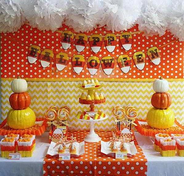 Buffet Orange Chevron Halloween