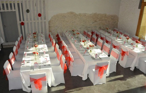 Idee Decoration Mariage Blanc Rouge Or