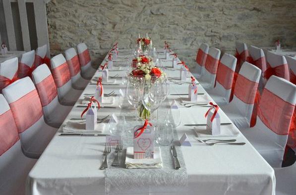 Decoration Italienne Table : Un joli mariage à l italienne avec du blanc rouge et