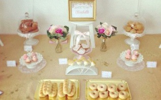 La Bridal Shower chic et élégante d'Elisabeth en rose et doré