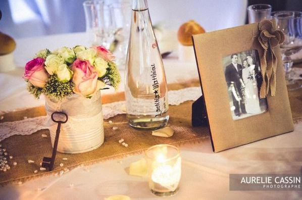 centre de table vintage mariage