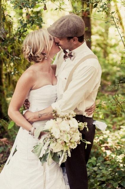 béret mariage rétro