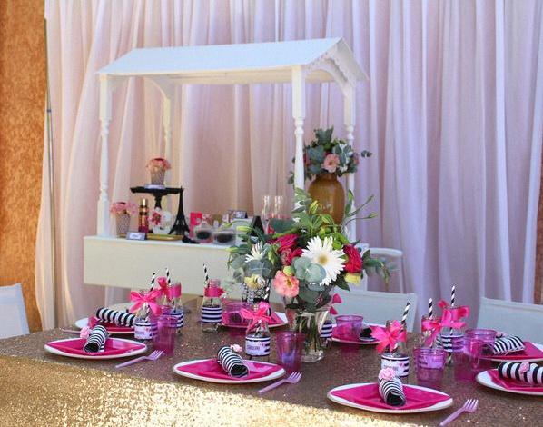 un 18e anniversaire chic et glamour sur le th me paris. Black Bedroom Furniture Sets. Home Design Ideas