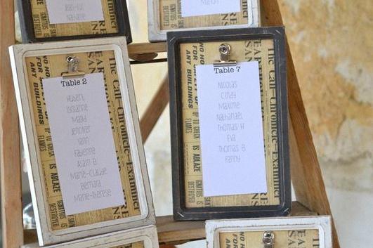 plan de table mariage champêtre rustique chic