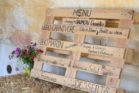 menu mariage champêtre rustique chic