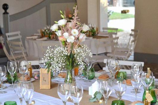 décoration de table mariage champêtre rustique chic