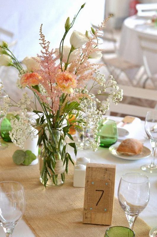 décoration mariage champêtre rustique chic