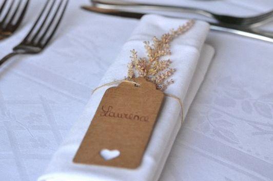 marque place mariage champêtre rustique chic