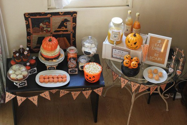 décoration buffet sweet table halloween