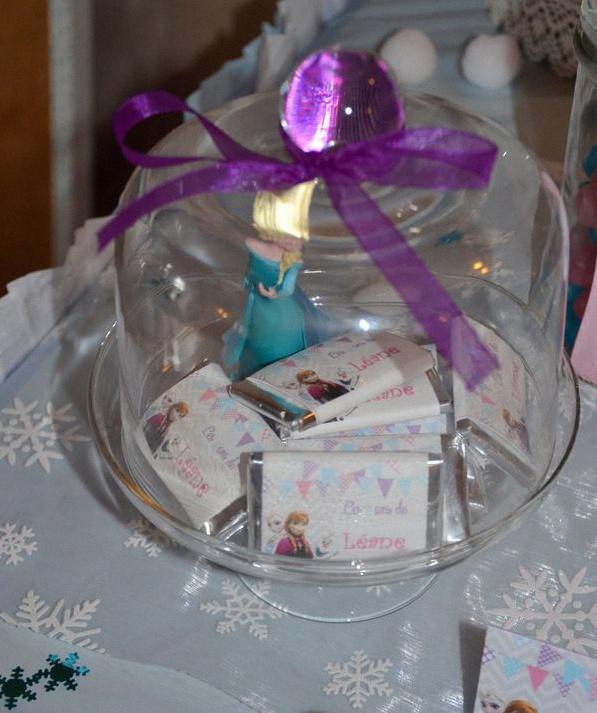 anniversaire Reine des Neiges cadeau d'invité