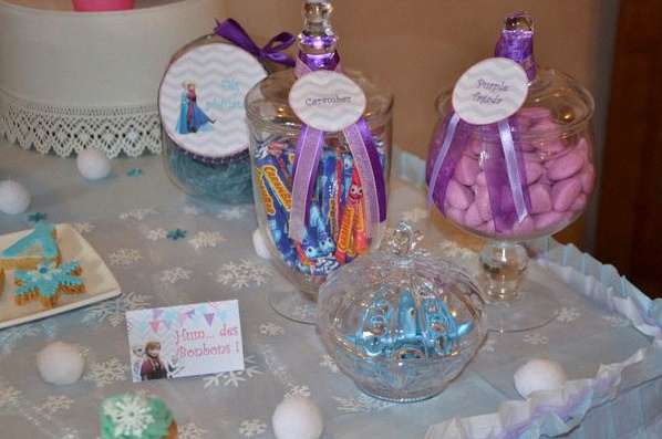 décoration anniversaire Reine des Neiges