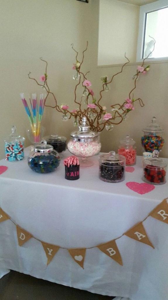 bar à bonbons mariage champêtre décoration champêtre