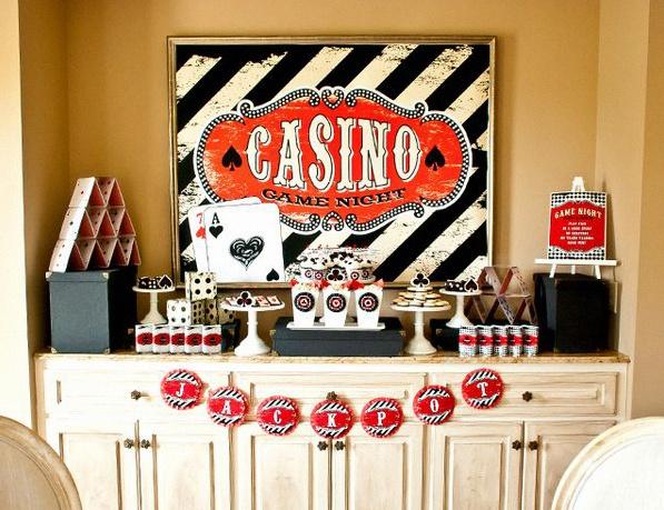 decoration soirée casino