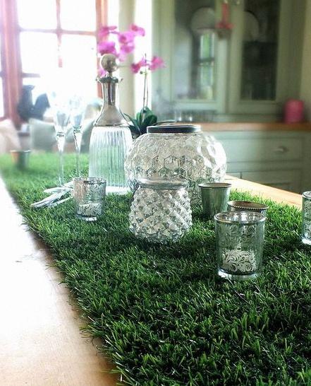 mariage vert green déco
