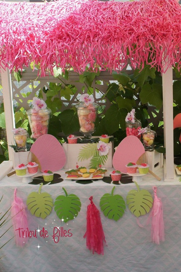 flamingo party un anniversaire tropical avec des flamants roses. Black Bedroom Furniture Sets. Home Design Ideas