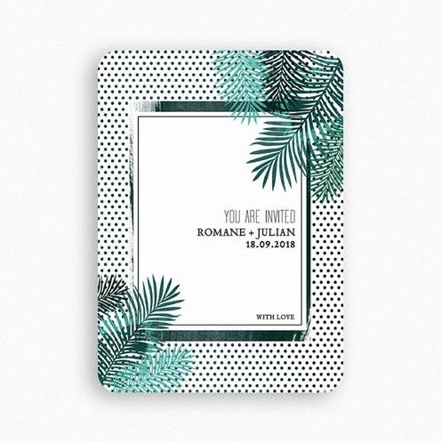 faire-part tropical