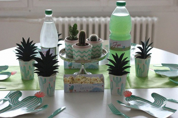 cactus party décoration table cactus