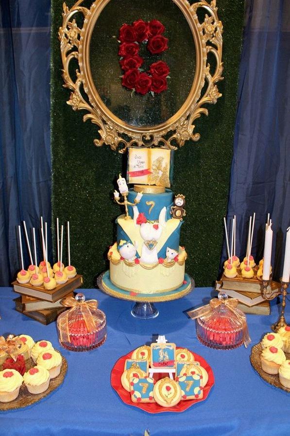 anniversaire la belle et la bete décoration la belle et la bete