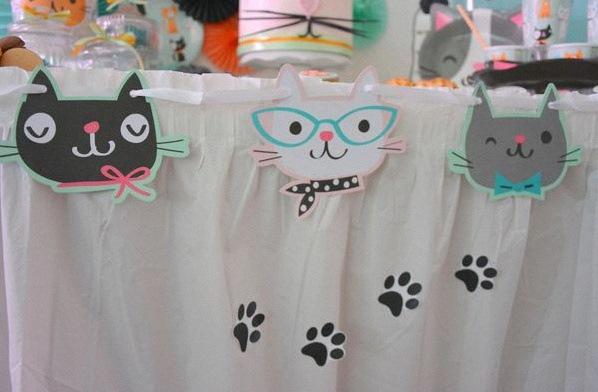 anniversaire thème chat décoration