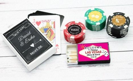 cadeau d'invité mariage poker