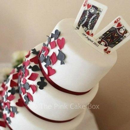 gateau de mariage thème poker