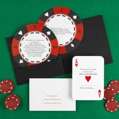 décoration mariage theme poker