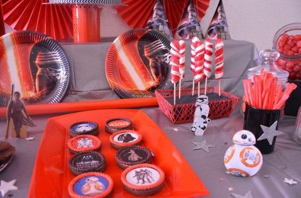 sweet table anniversaire thème star wars décoration star wars