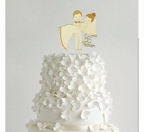 cake topper mariage personnalisé