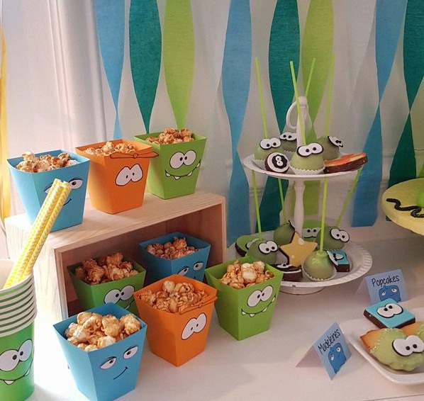 anniversaire cut the rope décoration