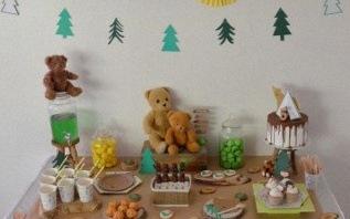 Un anniversaire Petit Indien, tipi et ours brun