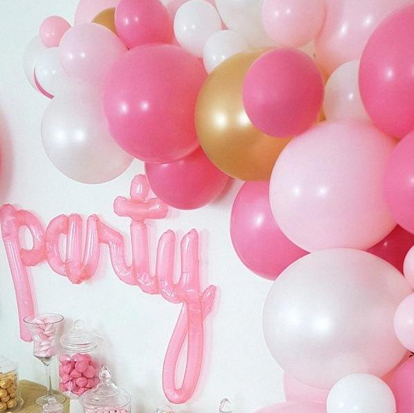 décoration organique ballons