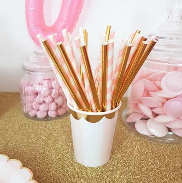 décoration organique ballons candy bar rose doré