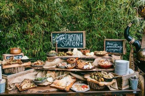 tendances culinaires buffet apéritif mariage cocktail