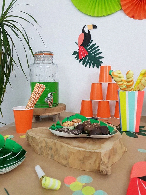 décoration toucan tropical party