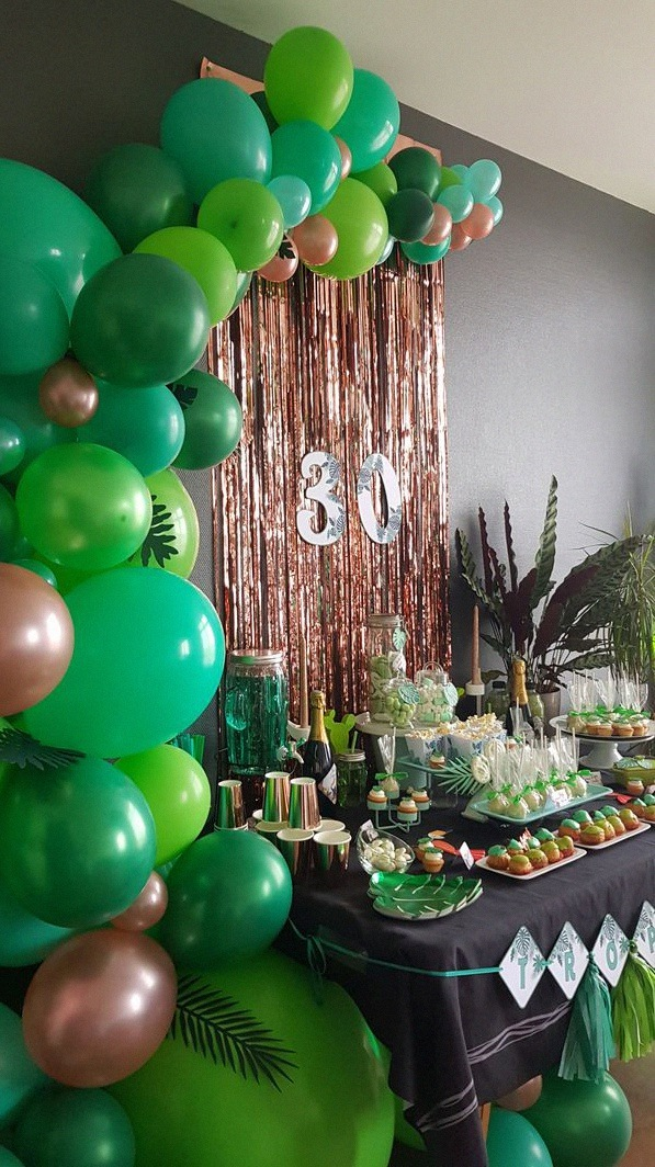 décoration tropical party sweet table tropical déco tropical anniversaire 30 ans