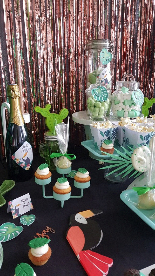 anniversaire tropical party sweet table tropical anniversaire 30 ans