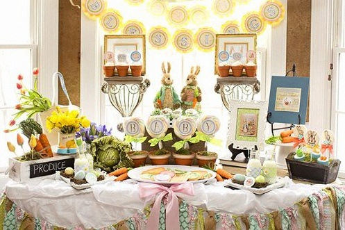 sweet table decoration pierre lapin anniversaire