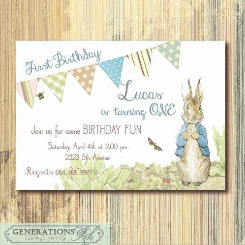 invitation pierre lapin anniversaire