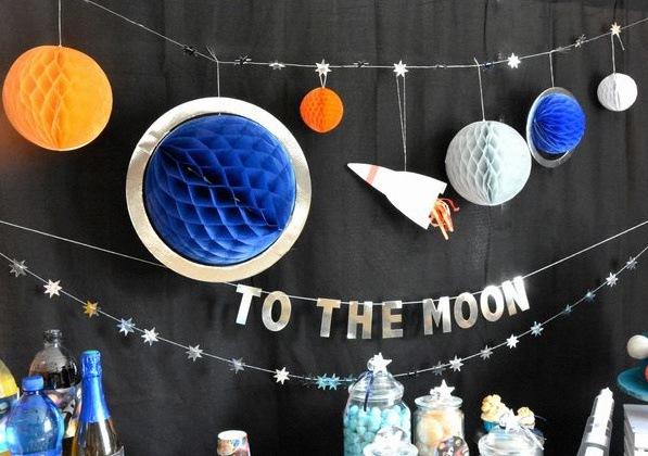 décoration astronaute fusée espace étoiles