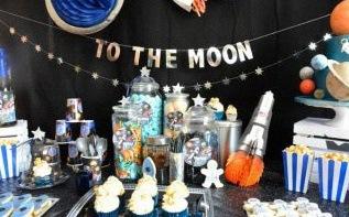 L'anniversaire de Raphaël surle thème Astronaute et Espace