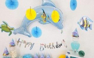 L'anniversaire marin de Nathan : Dauphin et Océan