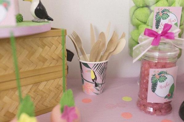 décoration tropical toucan party anniversaire