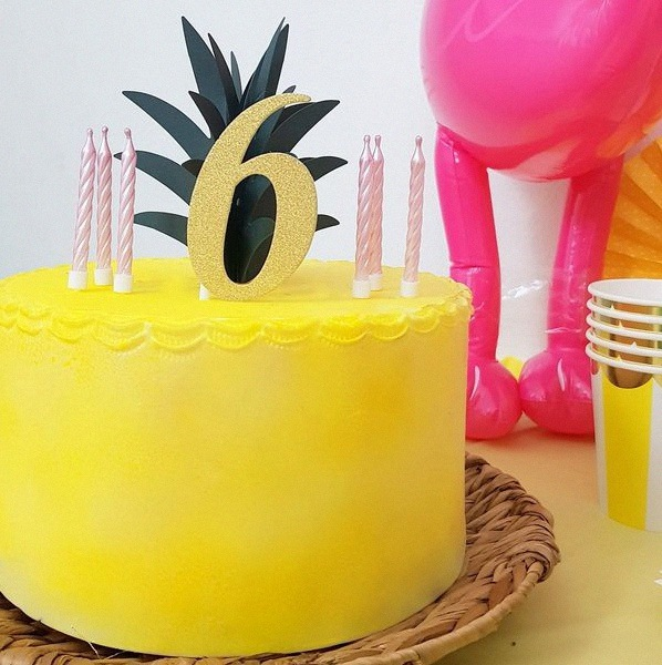 anniversaire tropical ananas
